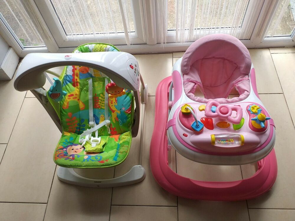 Fisher-Price Rainforest Take Along Swing and Seat Set + gift