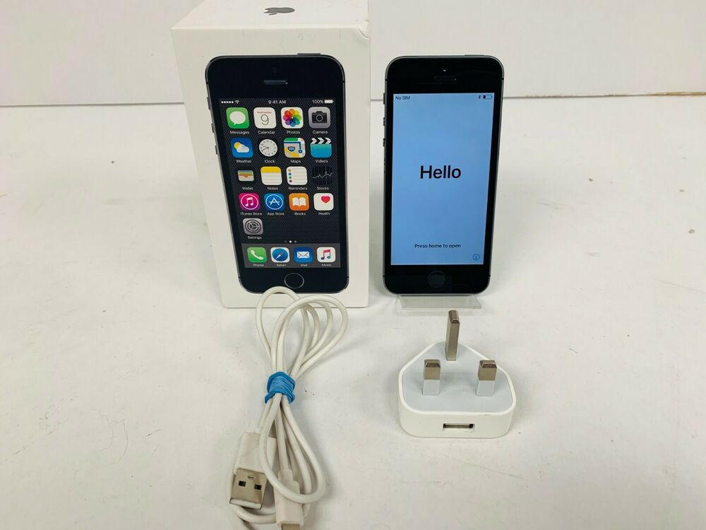 Apple iPhone 5s - 16GB - Space Grey (EE) A (GSM)