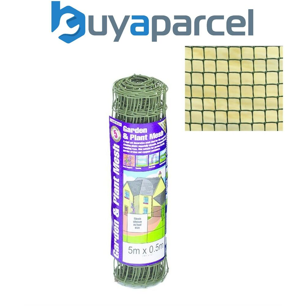 Gardman 50mm Garden Plant Mesh Fence Green Plant Support
