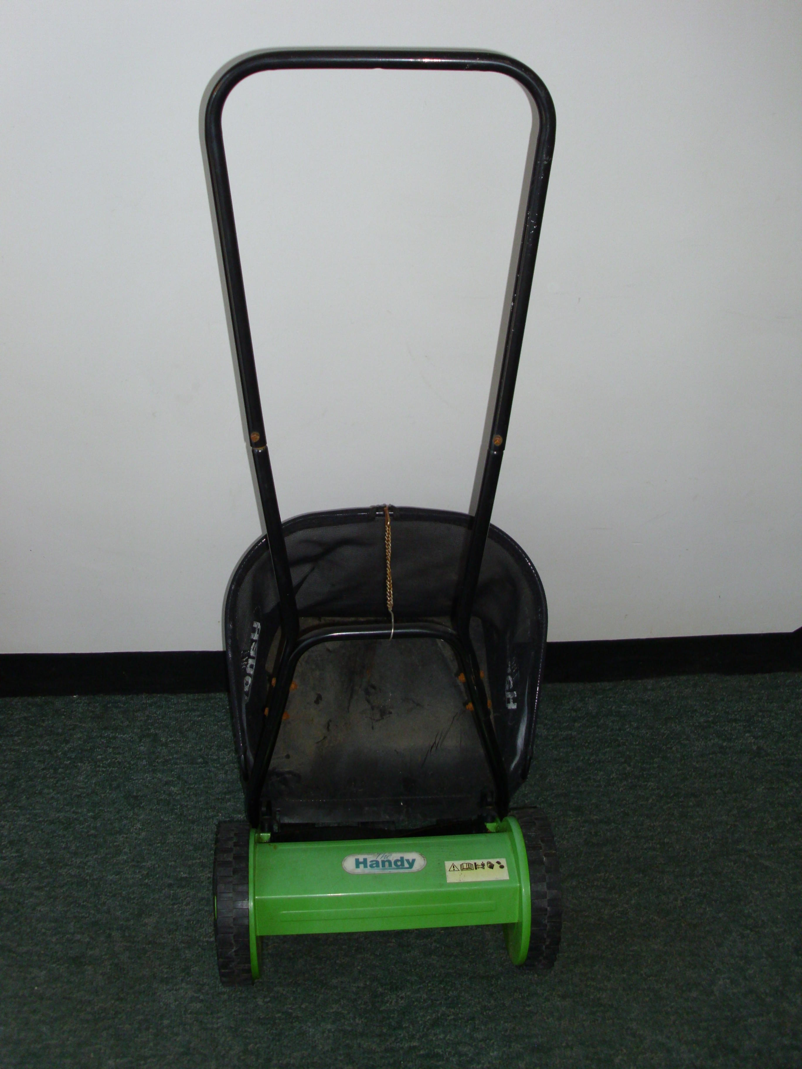 Hand Push Mower with Collection Basket.