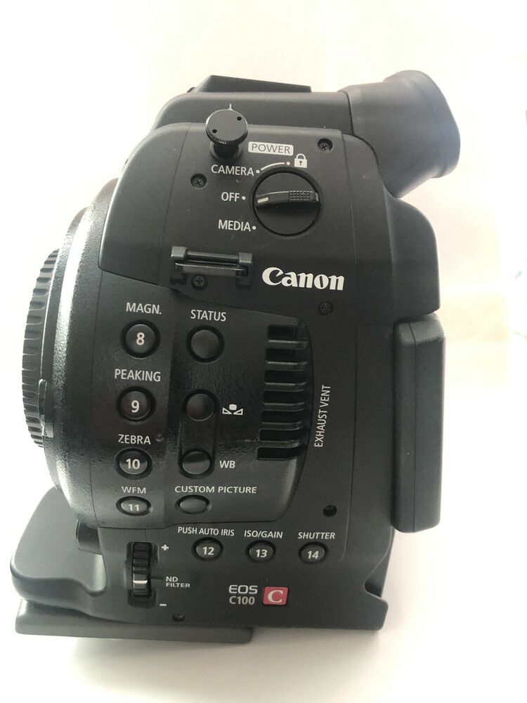 Canon C100 Camcorder With DAF Upgrade and Zacuto Z-Finder