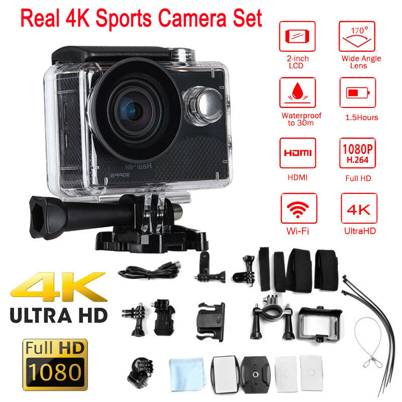 HDMI 170° V316 Real 4K 30FPS Action Camera Waterproof Wifi
