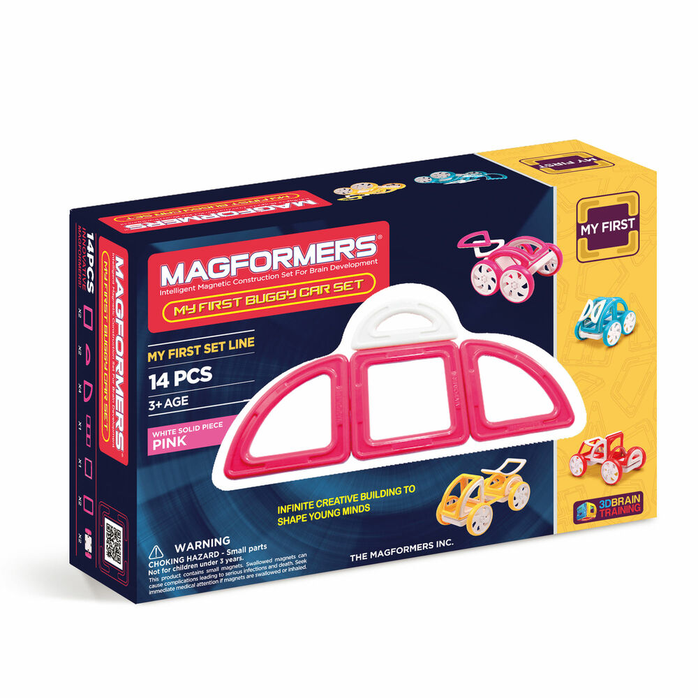 Magformers My First Buggy Car Set Pink