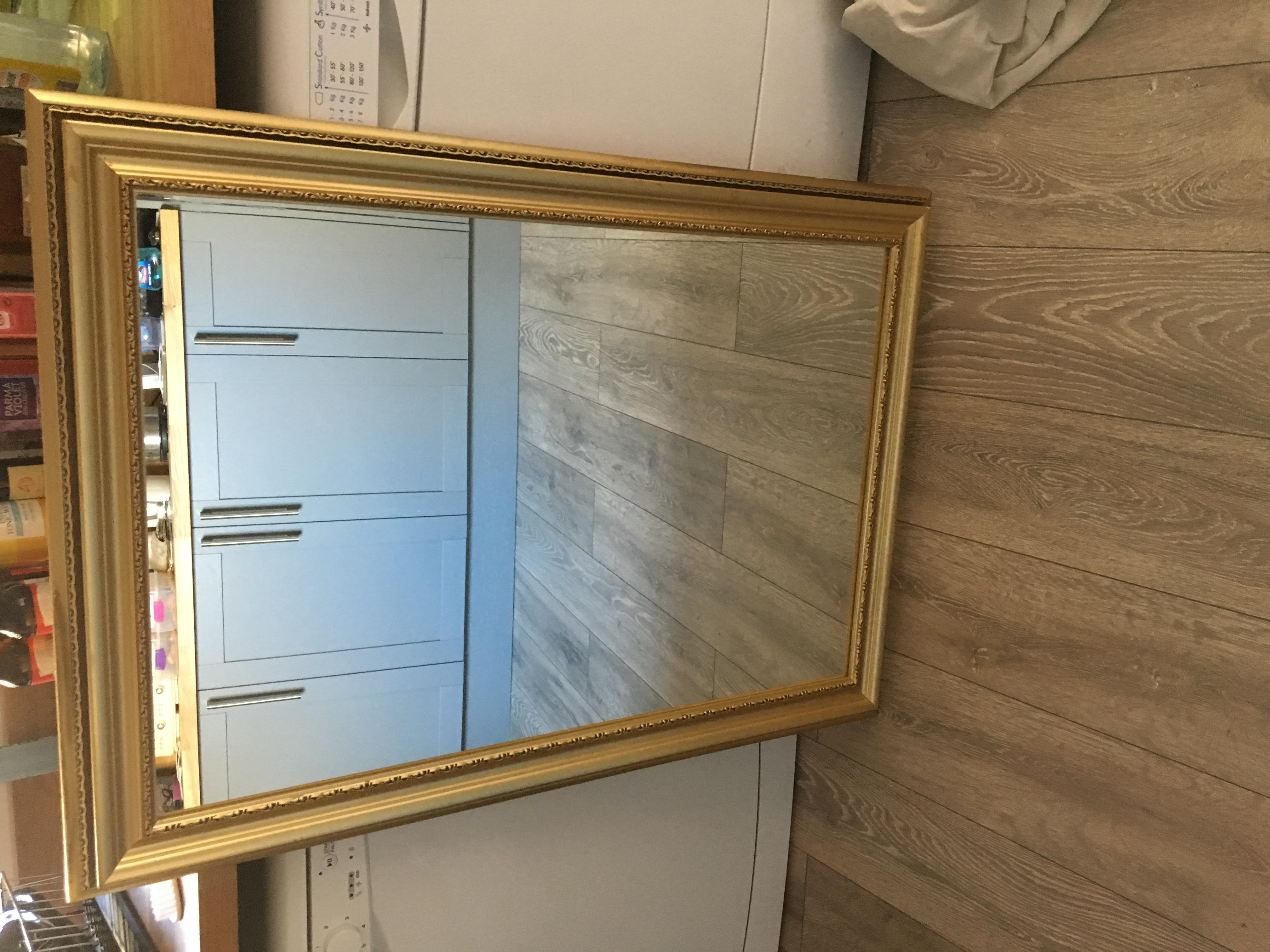 Large gold Plated Mirror