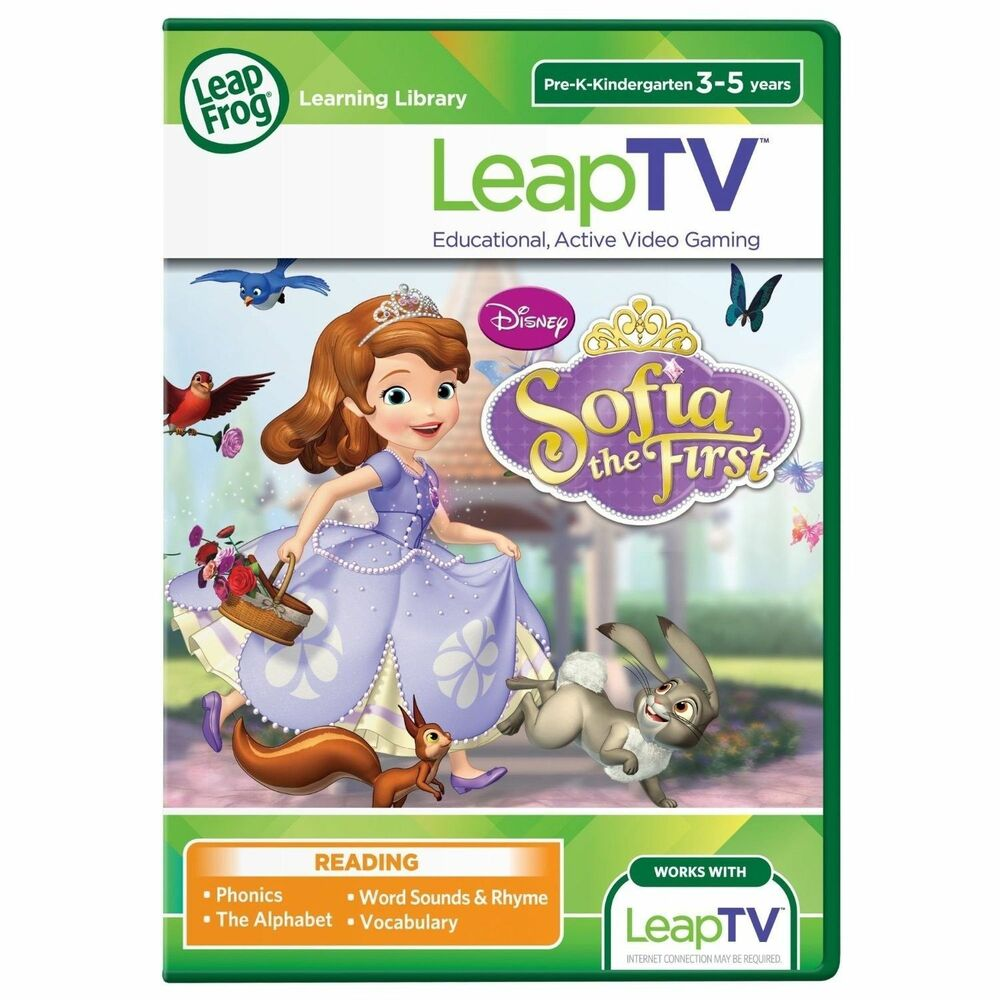 LeapFrog LeapTV Game Disney Sofia The First 3-5 years (Leap
