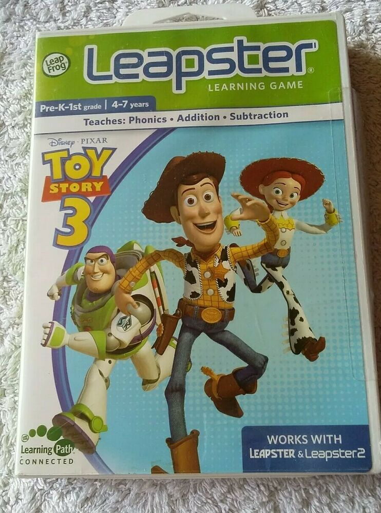 Toy Story 3. Leapster Learning Educational Game. Leap Frog.