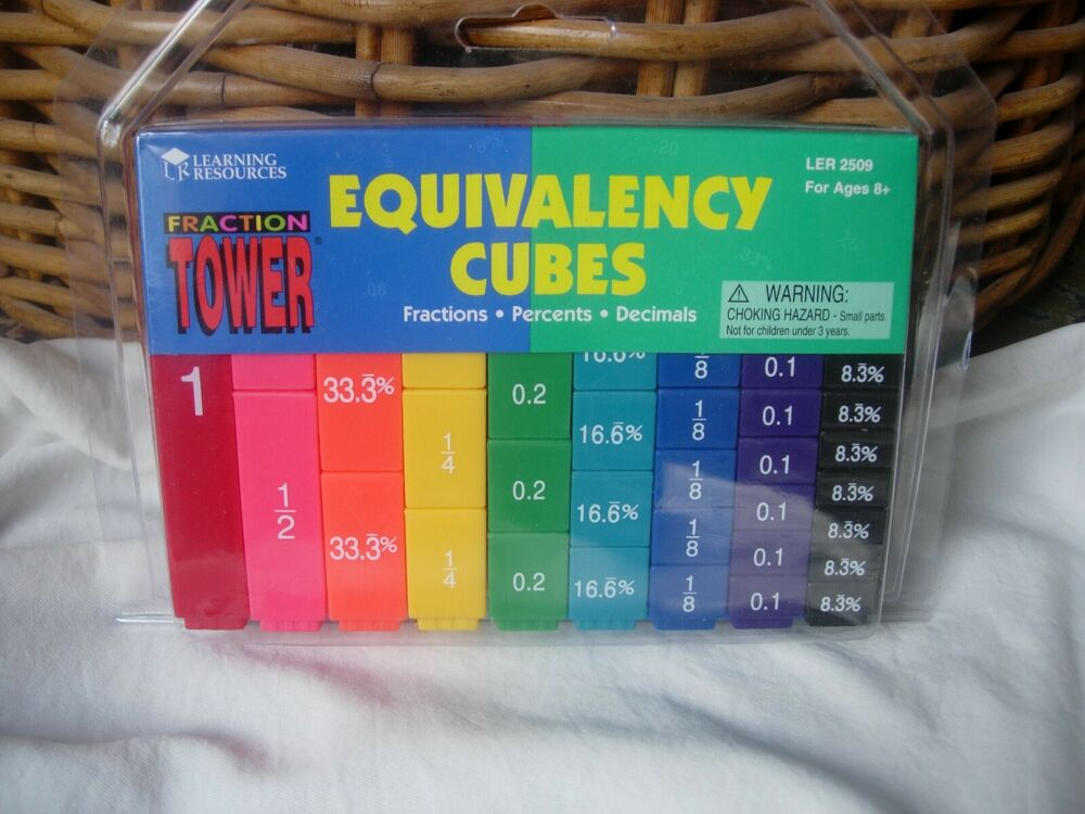Learning Resources Fraction Tower Equivalency Cubes Teach