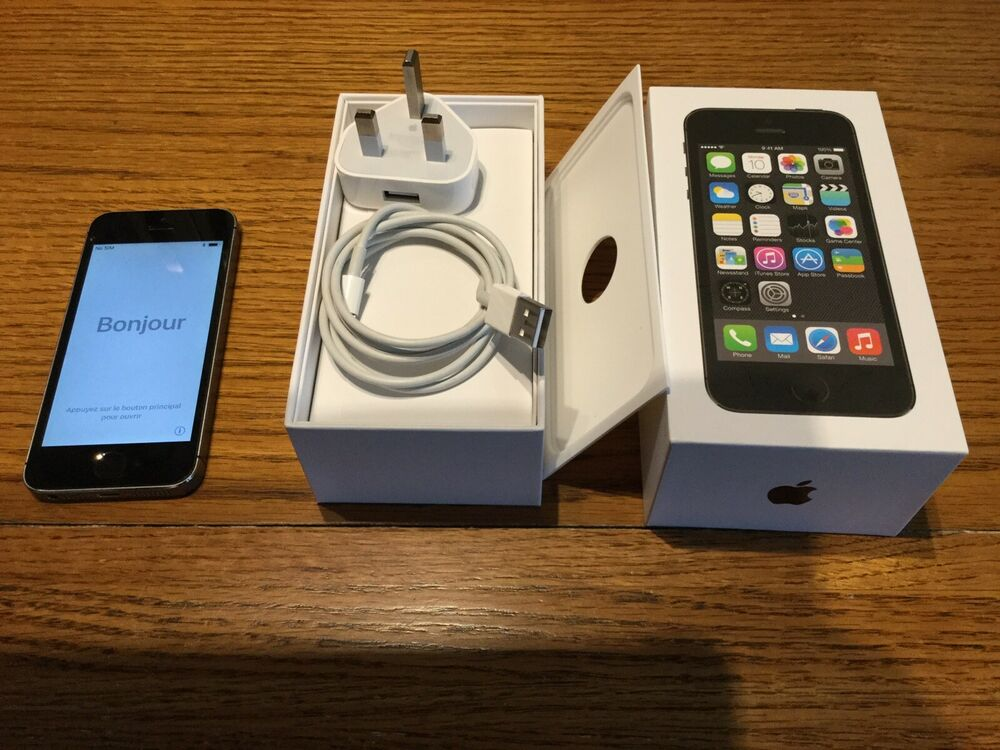 Apple iPhone 5s - 32GB - Space Grey (EE) A (GSM)