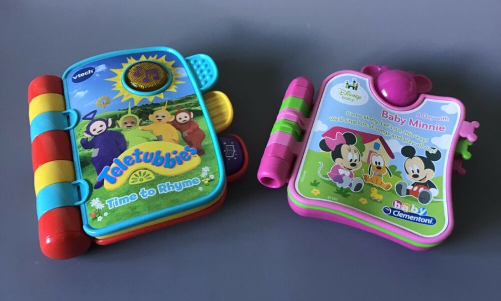 Vtech Teletubbies Time to Rhyme Activity and Minnie Mouse