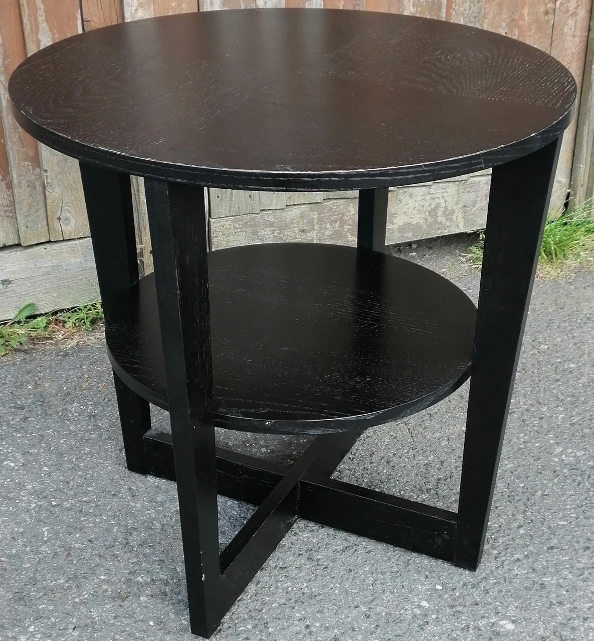 Two Tier Round Side Table