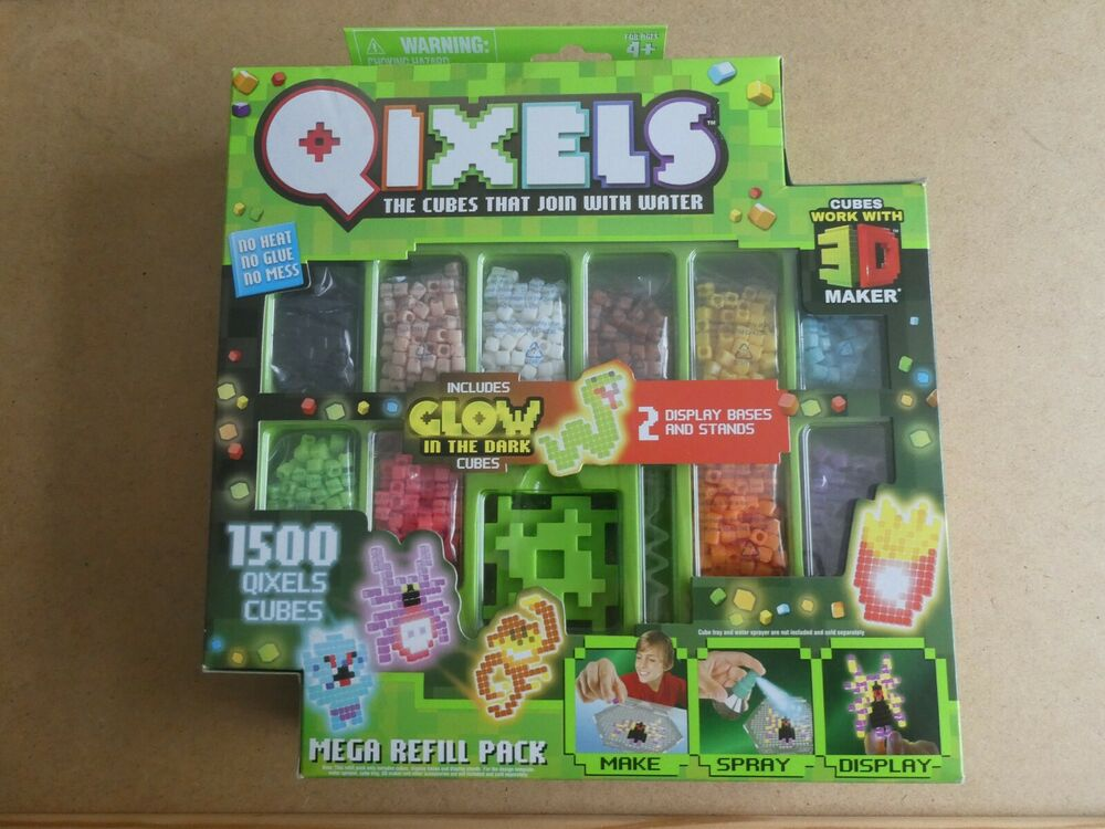QIXELS GLOW IN THE DARK CUBES MEGA REFILL PACK WITH