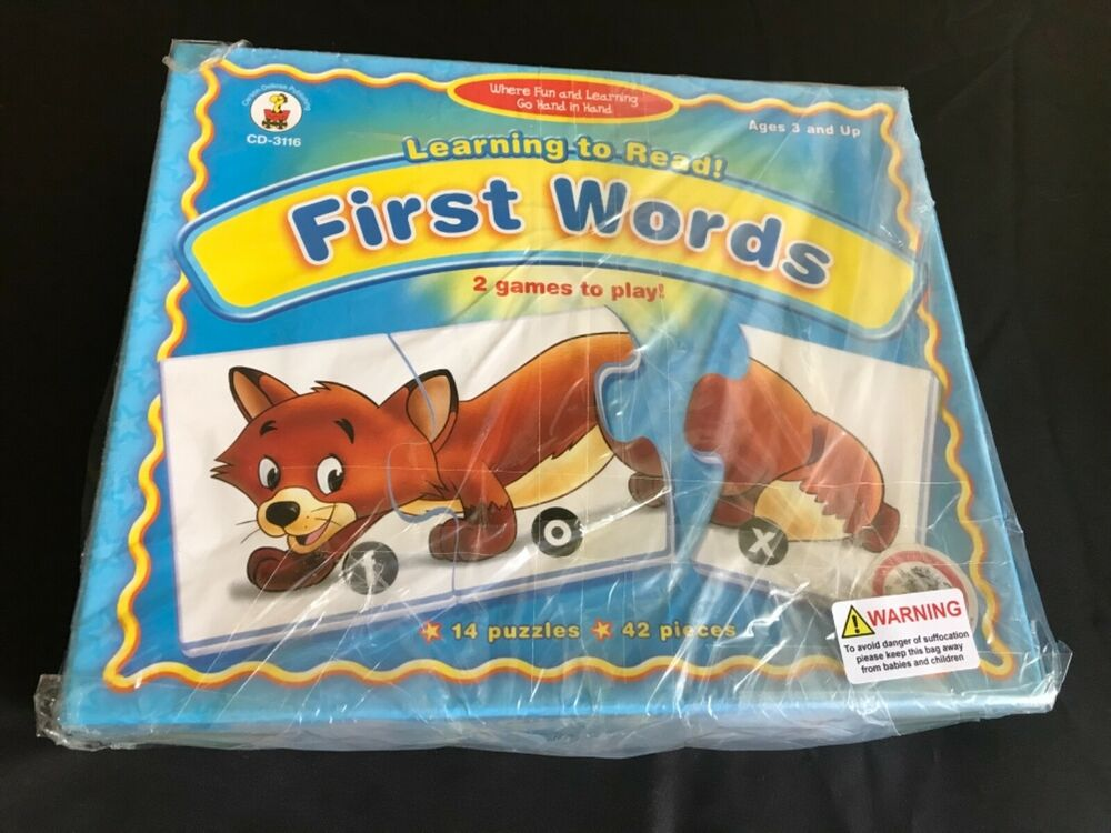 Carson-Dellosa - Learning to Read - First Words Educational