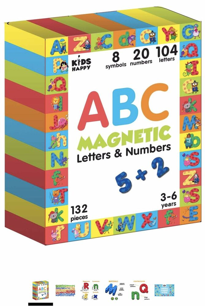 Magnetic Letters and Numbers for Children 132 pcs- Fridge
