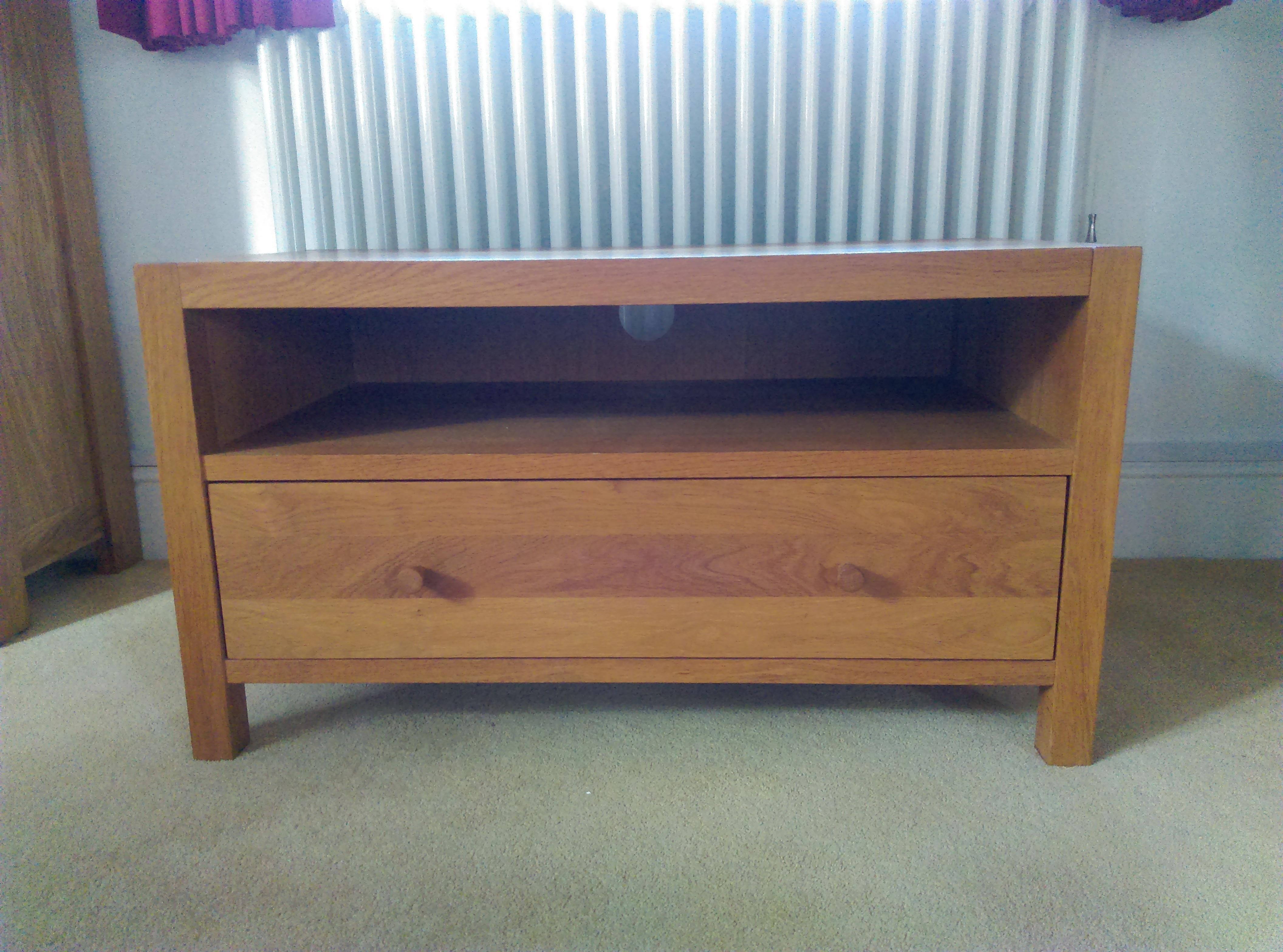 TV solid oak cabinet by Laura Ashley
