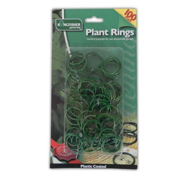 100PC PLANT RINGS - SUPPORT PLANTING GARDEN CLIPS PLASTIC