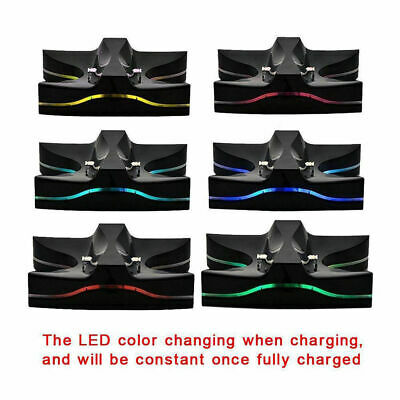 LED Dual Charger Station Charging Stand Dock for PS4
