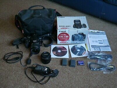 Canon EOS 400D DSLR Camera - Black (Kit with EF-S mm
