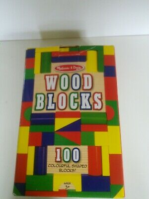 Melissa & Doug 100 wood blocks in original box.