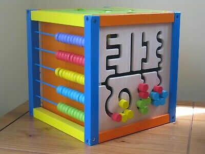 Squirrel Play - Wooden 5-in-1 Activity Cube