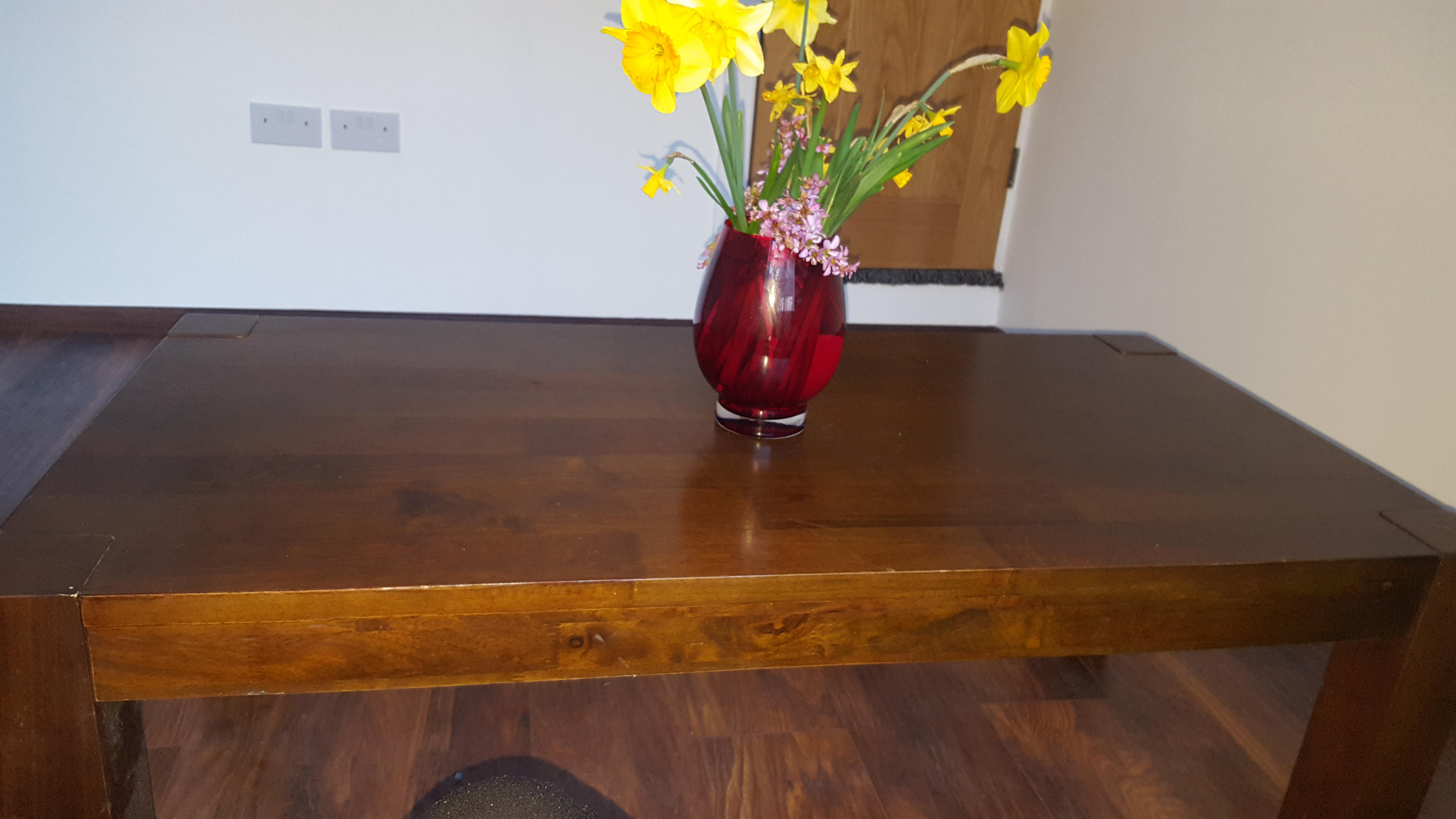 Solid wood table 45cm x 120cm x 60 cm £