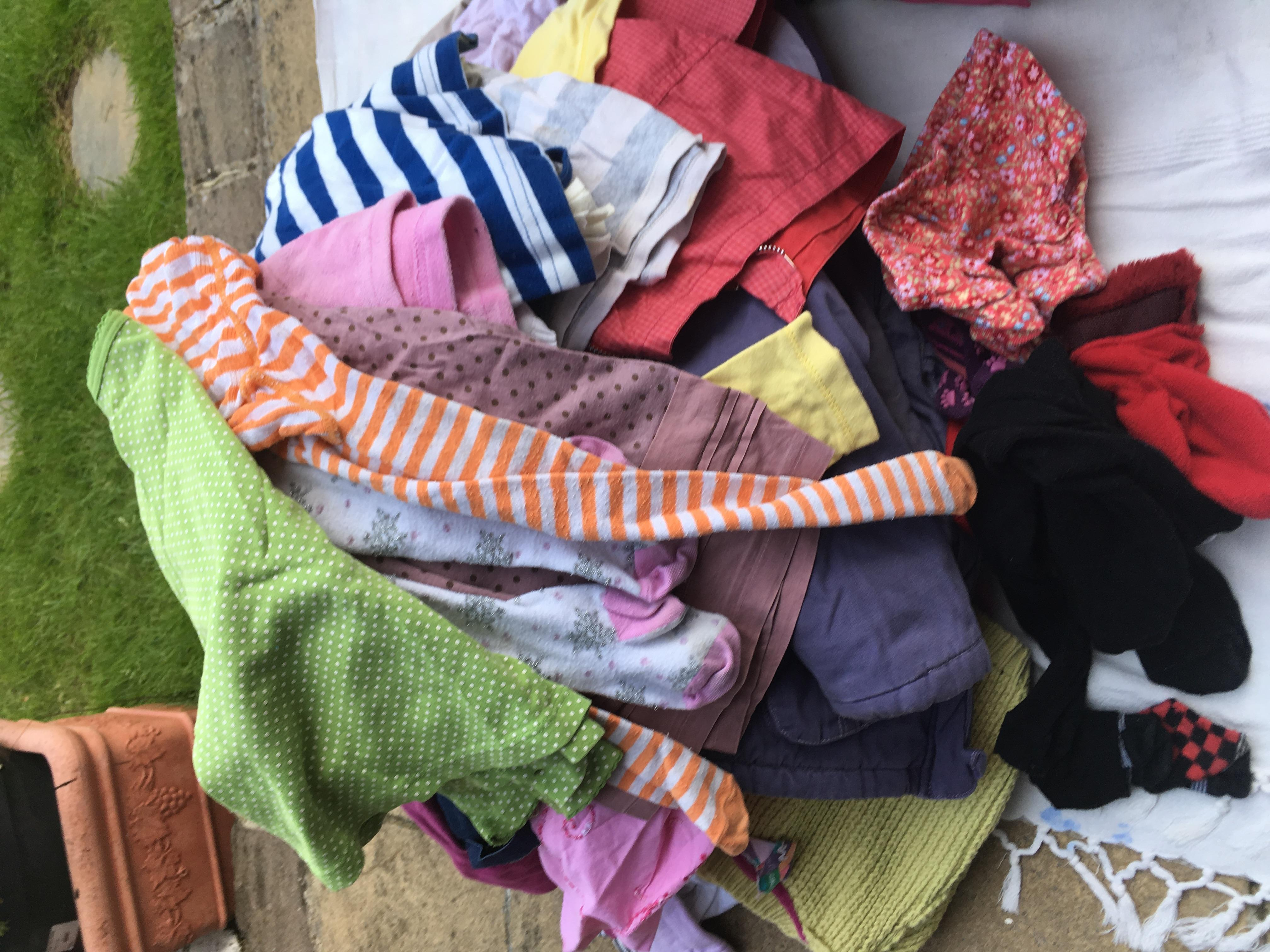 Large bundle of girls clothes some  months but mainly