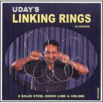 10 inch Linking Rings (8) by Uday - Trick - Magic Tricks
