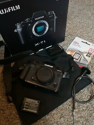Fujifilm X series X-T1 mirror less camera body in black with