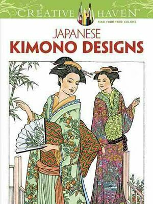 Creative Haven Japanese Kimono Designs Coloring Book