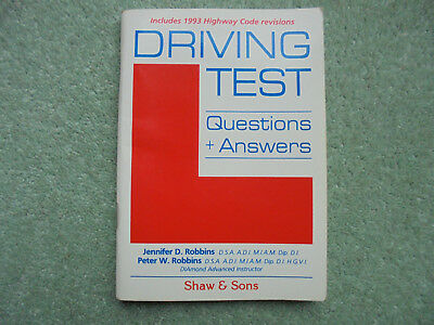 Driving Test Questions & Answers, Robbins, Peter,