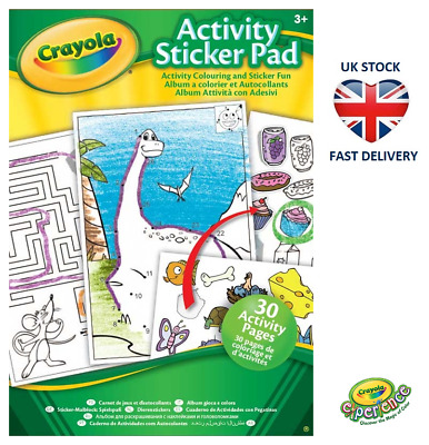 CRAYOLA ACTIVITY STICKER PAD Puzzles Colouring Book Stickers