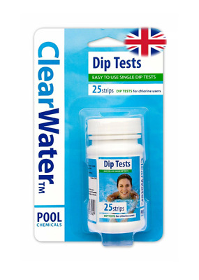 NEW Clearwater CH Dip Test Strips for Swimming Pool
