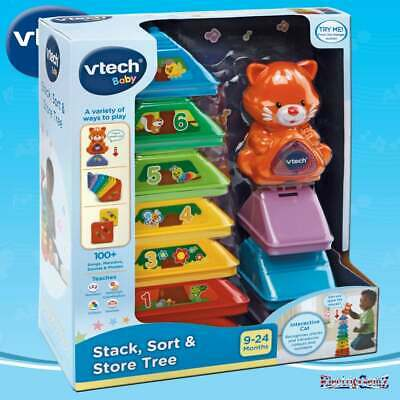 VTECH BABY STACK, SORT AND STORE TREE 9 MONTHS+ -BRAND NEW