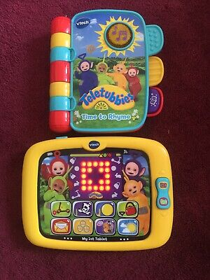 Vtech Teletubbies Bundle 1st Tablet & Time To Rhyme Book