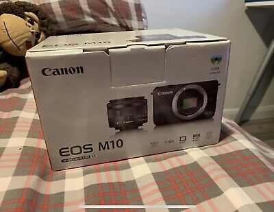 Canon EOS M10 Camera with mm IS STM Lens - Black With
