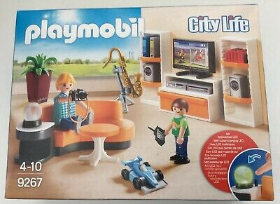 Playmobil  City Life Living Room with Working Lights