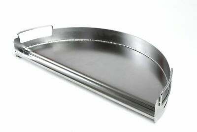 Charcoal Companion Stainless Half-Circle Pro Grill Griddle