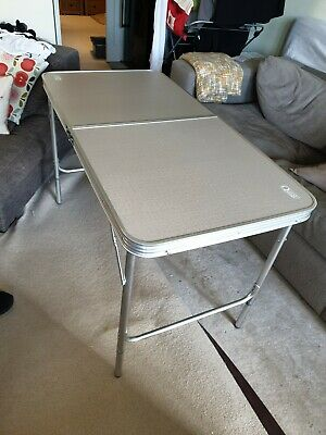 Quest Superlite silver Stow folding table with extension