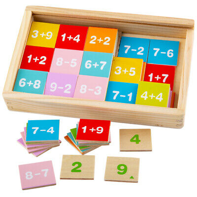 Bigjigs Toys Wooden Add & Subtract Box Math Educational Sums