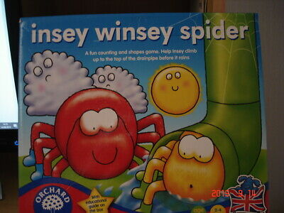 """ORCHARD TOYS """"INSEY WINSEY SPIDER"""" GAME COMPLETE"""