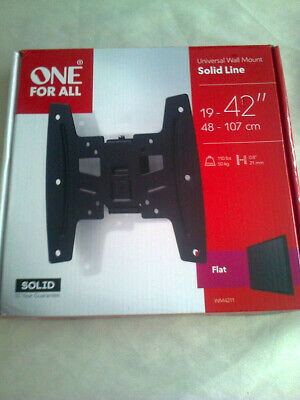 One For All Solid Line FLAT TV Wall Bracket Mount Screen