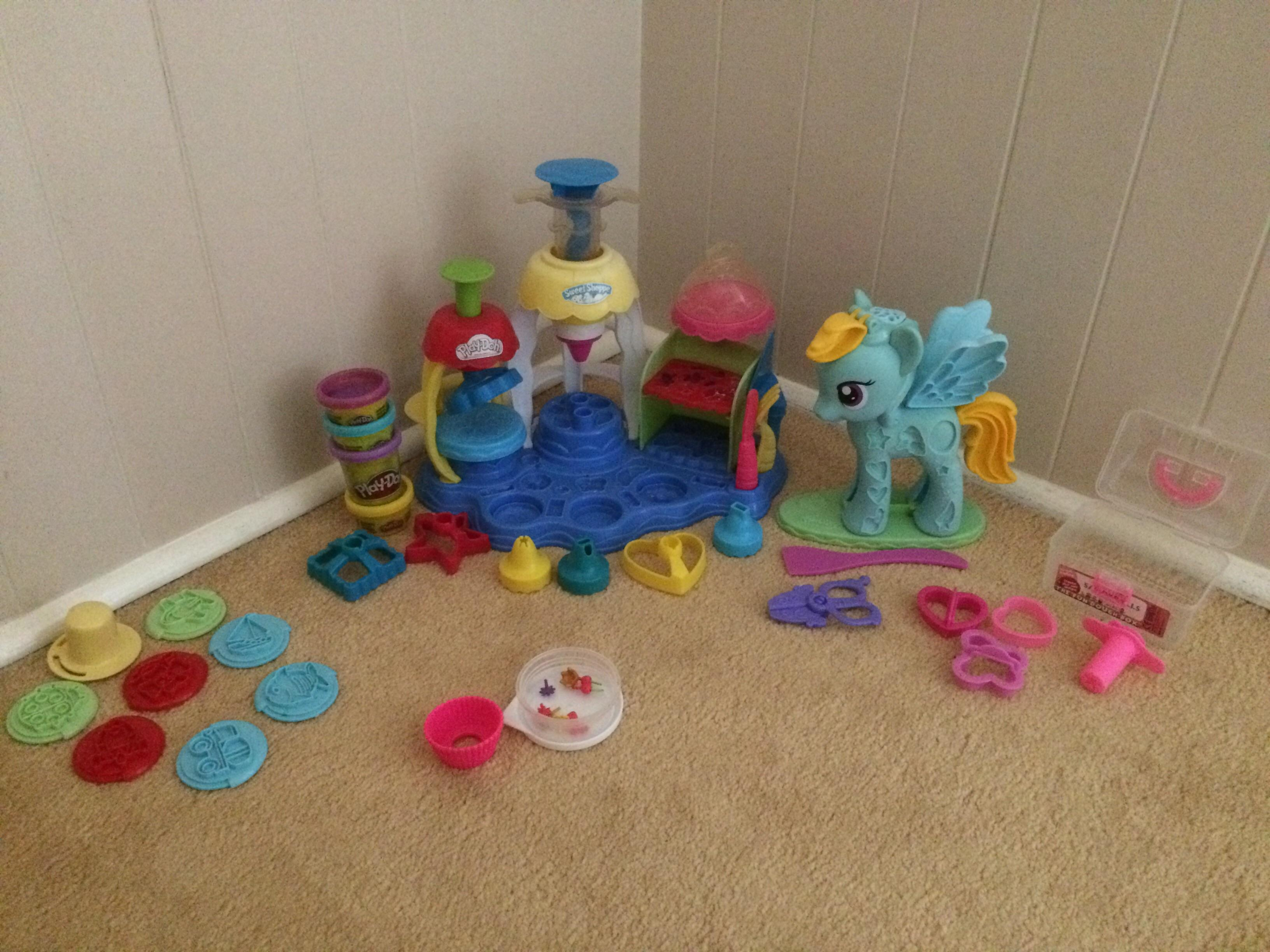 PlayDoh Sweet Shoppe, My Little Pony Rainbow Dash and other