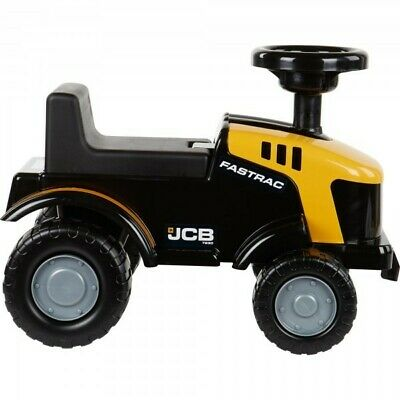 JCB Ride On Tractor Kids Yellow Foot To Floor Push Along Toy