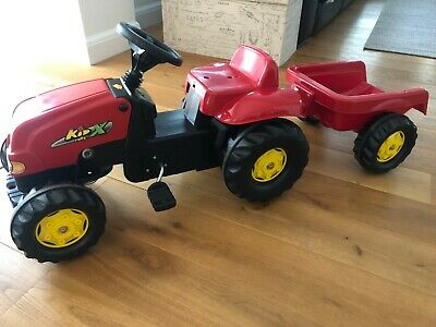 Lovely Pedal Operated Red Toy Tractor With Detachable