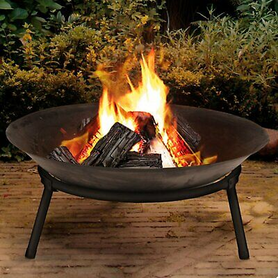MTS Cast Iron Garden Fire Pit Basket Patio Heater Log Wood
