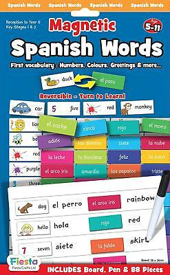 Fiesta Crafts Spanish Words Magnetic Activity Chart