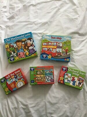 Orchard Toys Educational Games And Puzzle bundle X5
