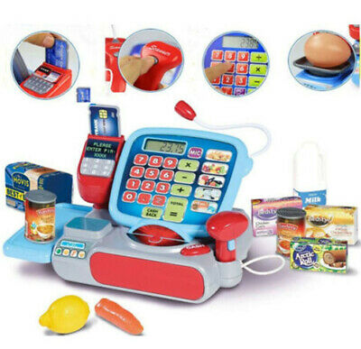 Kids Pretend Cash Register Shop Role Play Supermarket