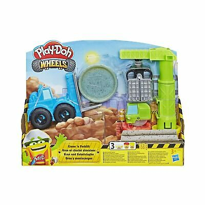 Play-Doh Wheels Crane And Forklift Construction Toy Set One