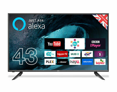 """Cello C43FVP 43"""" Smart LED TV with Freeview T2 HD and Alexa"""