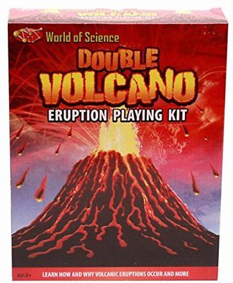 Kandy Toys Double Volcano Eruption Play Kit, 2 Bags of